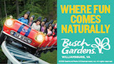 busch gardens where fun comes naturally